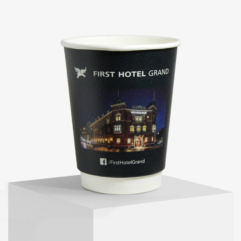 Frist Hotel logo on paper cup